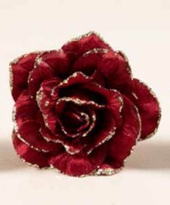 Bilde av Velourrose på stilk rød