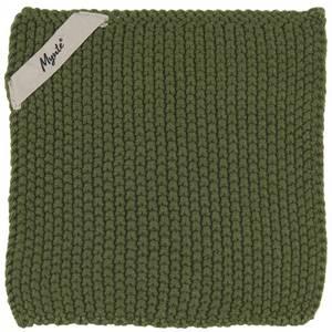 Bilde av Gryteklut Mynte mørkegrønn strikket